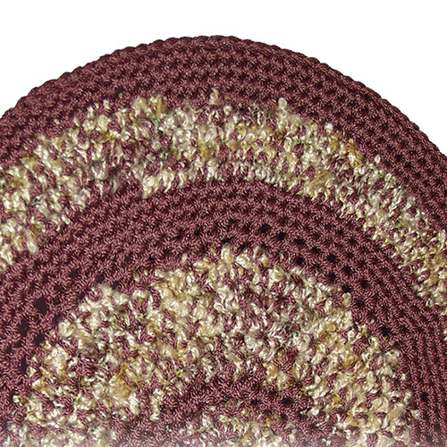 Crochet Your Own Round Textured Rug